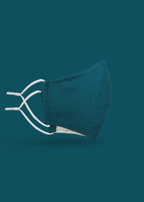 Pocket Square Clothing Children's Unity Mask 2.0 w/ Filter Pocket (Teal)