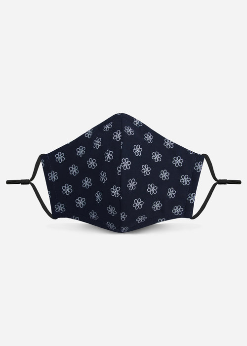 Pocket Square Clothing 2.0 Unity Mask w/ Filter Pocket (Navy/Daisy)