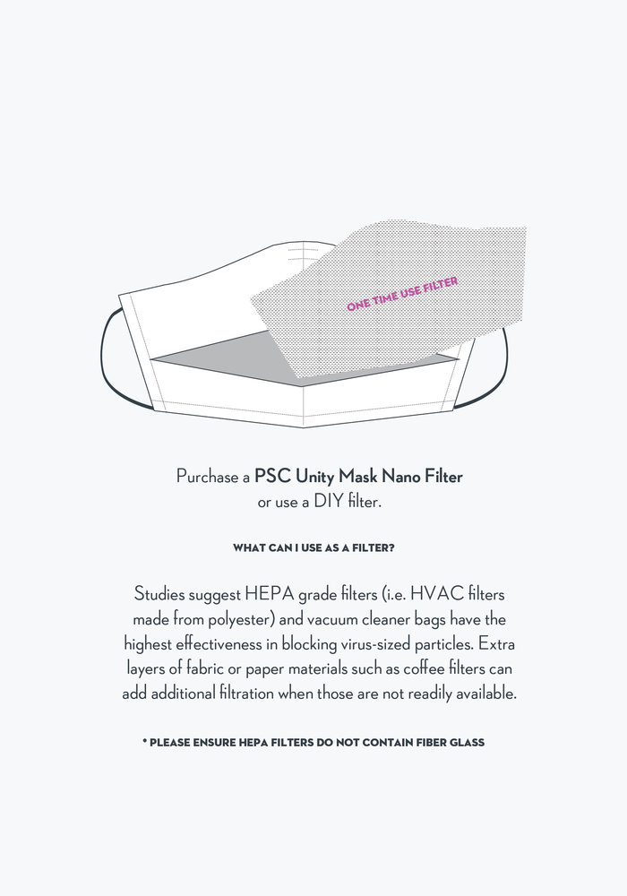 Unity Mask 2.0 w/ Filter Pocket (Light Blue Stripe)