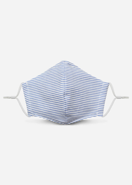 Pocket Square Clothing 2.0 Unity Mask w/ Filter Pocket (Light Blue Stripe)