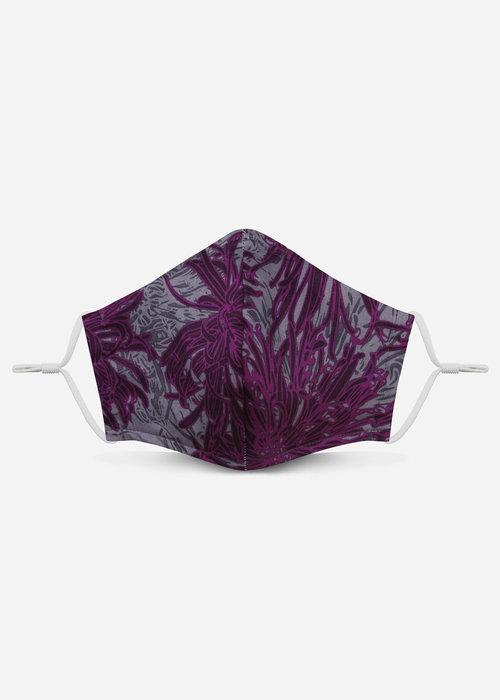 Pocket Square Clothing Unity Mask 2.0 w/ Filter Pocket (Purple Floral)