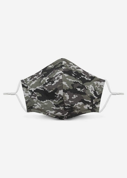 Pocket Square Clothing Unity Mask  2.0 w/ Filter Pocket (Snow Camo)