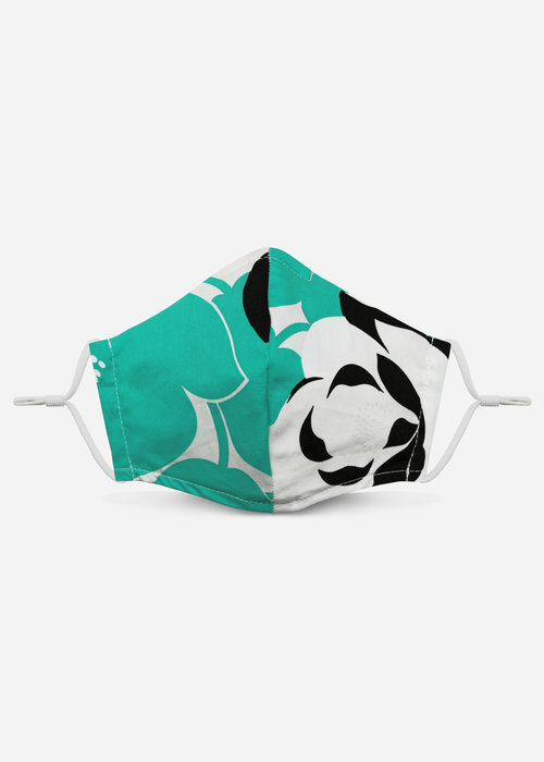 Pocket Square Clothing 2.0 Unity Mask w/ Filter Pocket (Mint Floral)