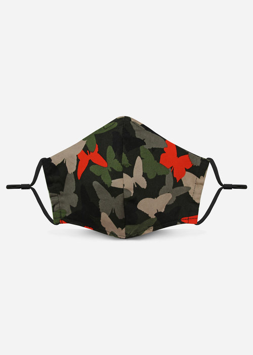 Pocket Square Clothing Unity Mask 2.0 w/ Filter Pocket (Butterfly Camo)