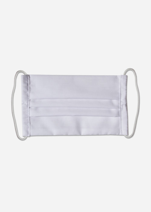 Pocket Square Clothing LA Protects - White Pleated Mask