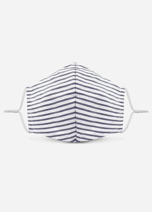 Pocket Square Clothing 1.0 Unity Mask w/ Filter Pocket (Marine Blue /Stripe)