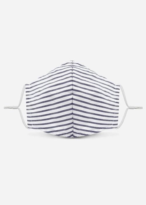 Pocket Square Clothing Unity Mask w/ Filter Pocket (Marine Blue /Stripe)