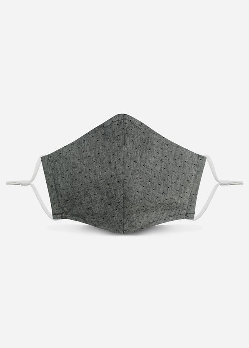 Pocket Square Clothing Unity Mask 2.0 w/ Filter Pocket (Gray Polka Dot)