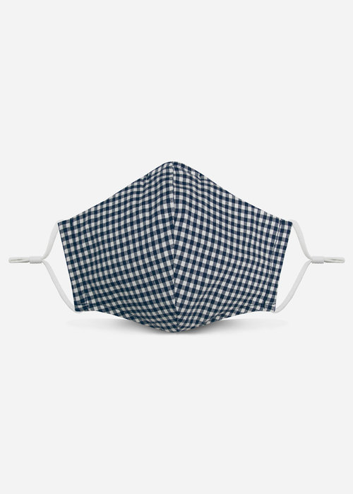 Pocket Square Clothing Unity Mask 2.0 w/ Filter Pocket (Blue Gingham)