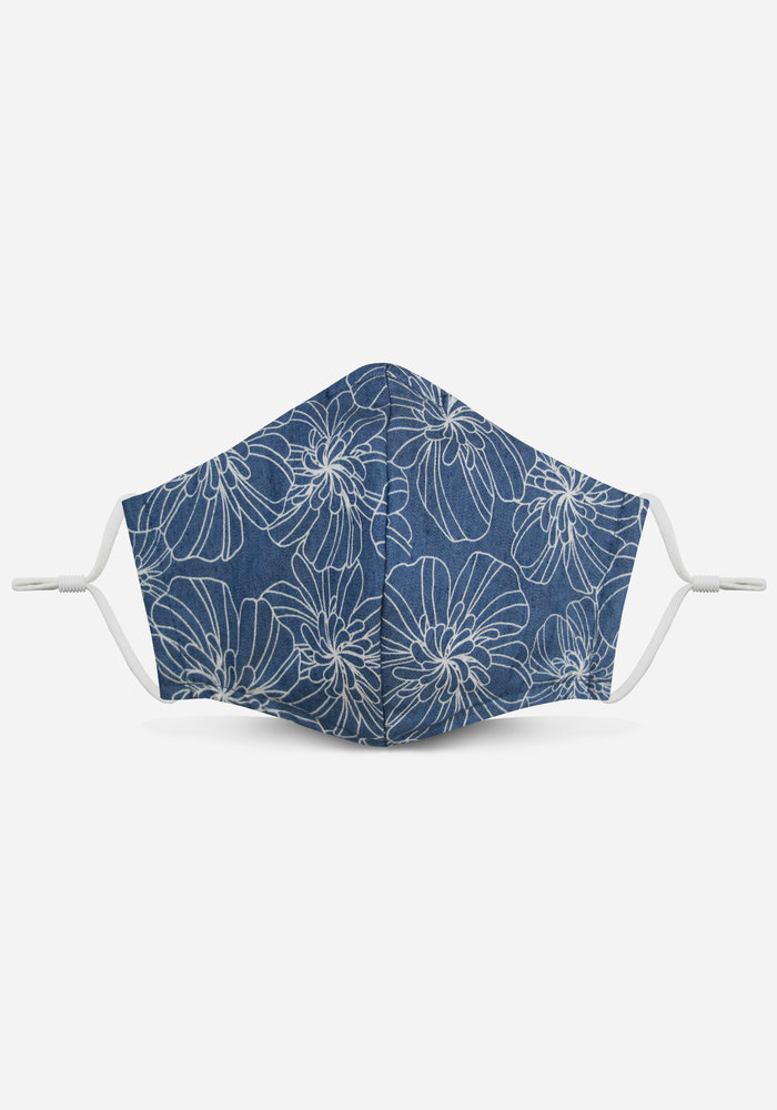 2.0 Unity Mask w/ Filter Pocket (Chambray/Floral)