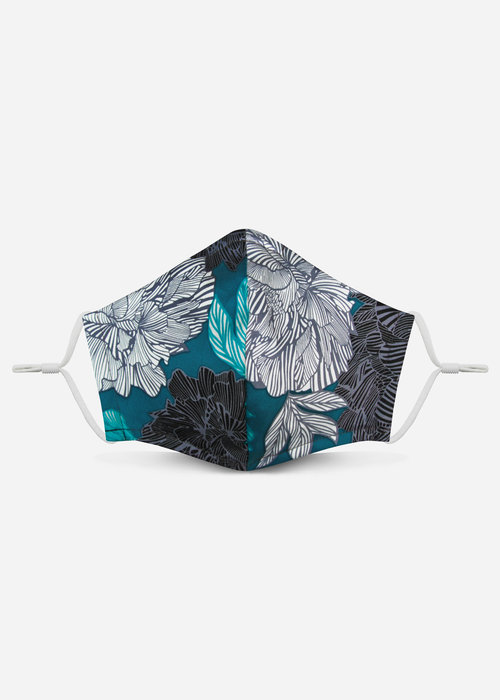 Pocket Square Clothing 2.0 Unity Mask w/ Filter Pocket (Teal Floral)