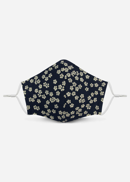 Pocket Square Clothing Unity Mask 2.0 w/ Filter Pocket (Navy Floral)