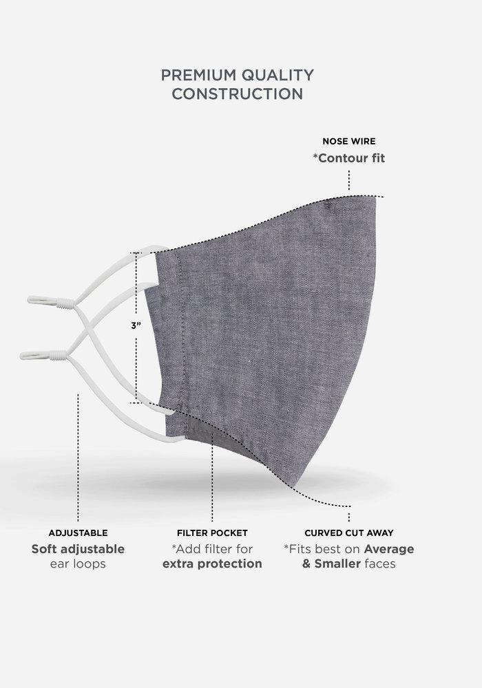 2.0 Unity Mask w/ Filter Pocket (Navy/Daisy)