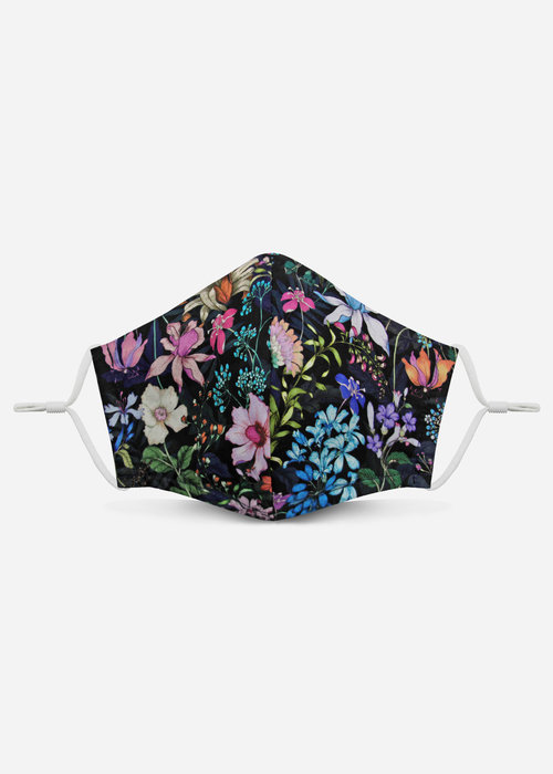 Pocket Square Clothing Unity Mask 2.0 w/ Filter Pocket (Night Floral)