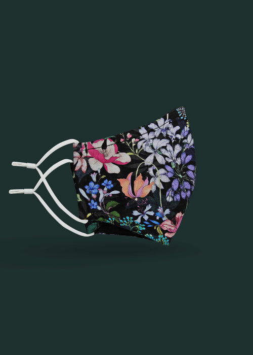 Pocket Square Clothing Children's Unity Mask 2.0 w/ Filter Pocket (Night Floral)
