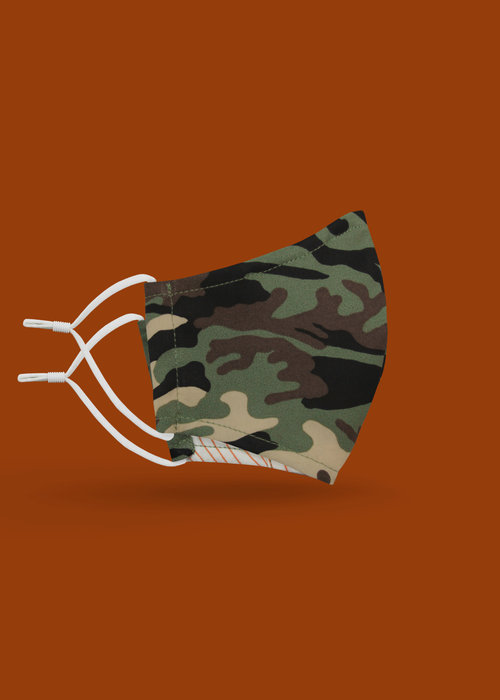 Pocket Square Clothing Children's Unity Mask 2.0 w/ Filter Pocket (Camo)