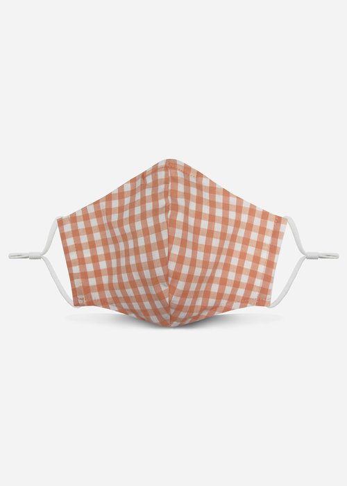 Pocket Square Clothing 2.0 Unity Mask w/ Filter Pocket (Peach/Gingham)