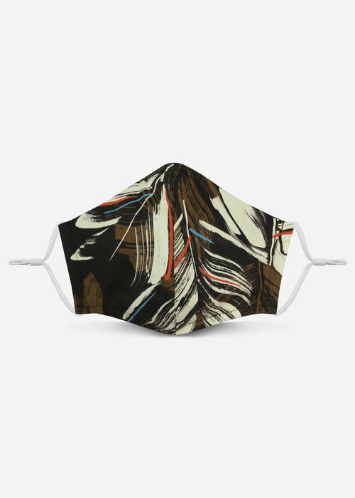 Pocket Square Clothing 2.0 Unity Mask w/ Filter Pocket (Brown/Abstract))