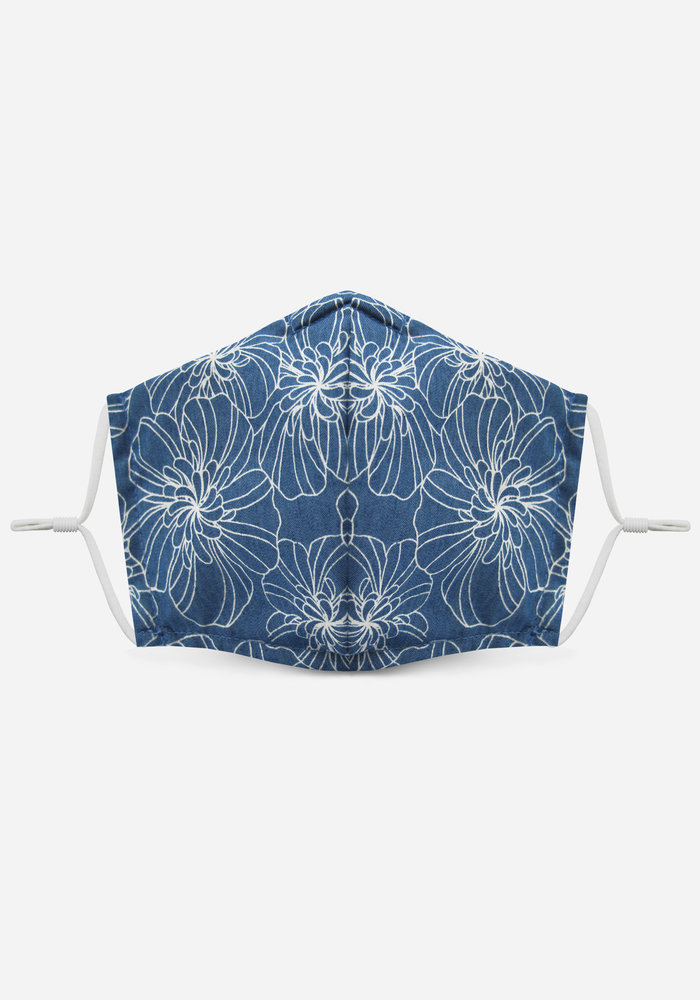 1.0 Unity Mask w/ Filter Pocket (Chambray/Floral)