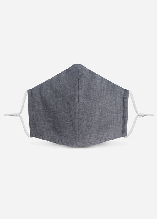 Pocket Square Clothing 1.0 Unity Mask w/ Filter Pocket (Blue/Chambray)
