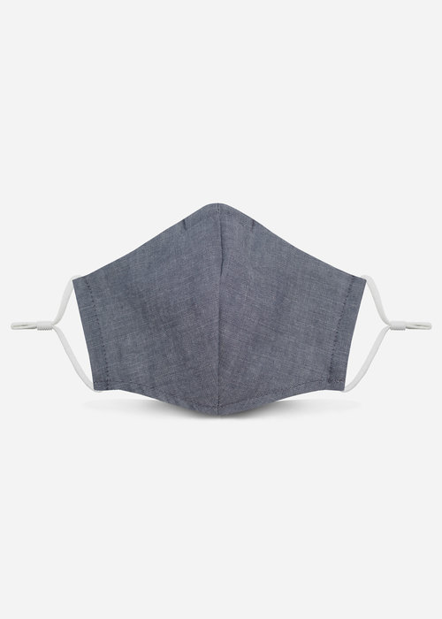 Pocket Square Clothing 2.0 Unity Mask w/ Filter Pocket (Blue Chambray)