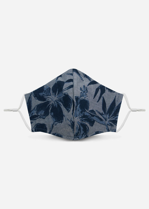 Pocket Square Clothing 2.0 Unity Mask w/ Filter Pocket (Chambray Tropical)