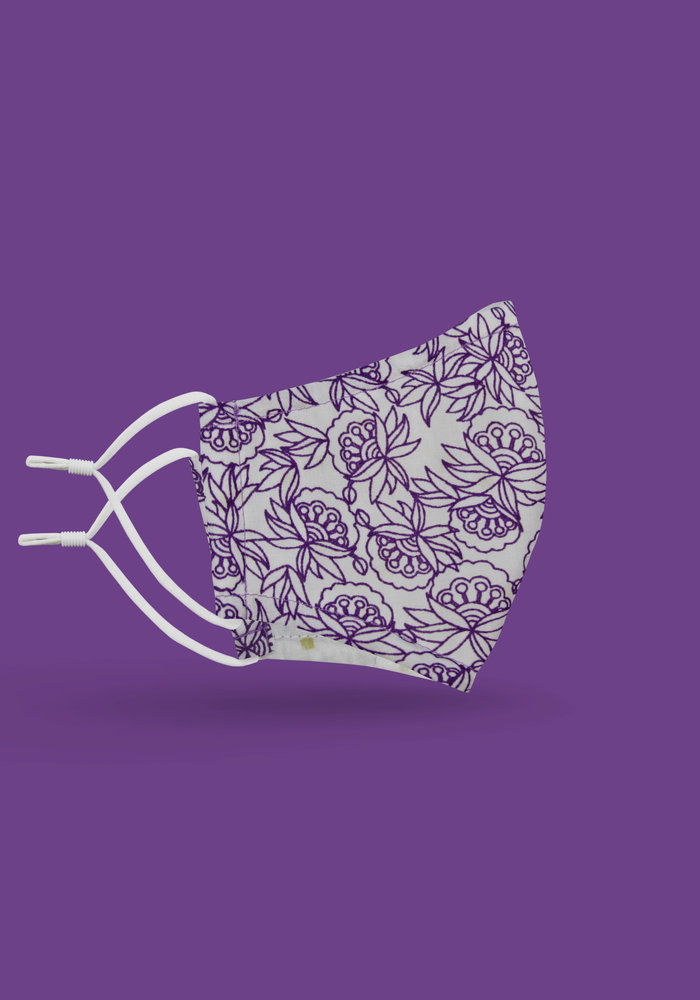 Children's Unity Mask 2.0 w/ Filter Pocket (Purple Flower)