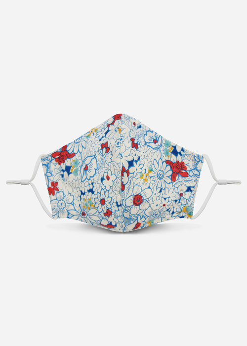 Pocket Square Clothing 2.0 Unity Mask w/ Filter Pocket (Sky Blue Floral)