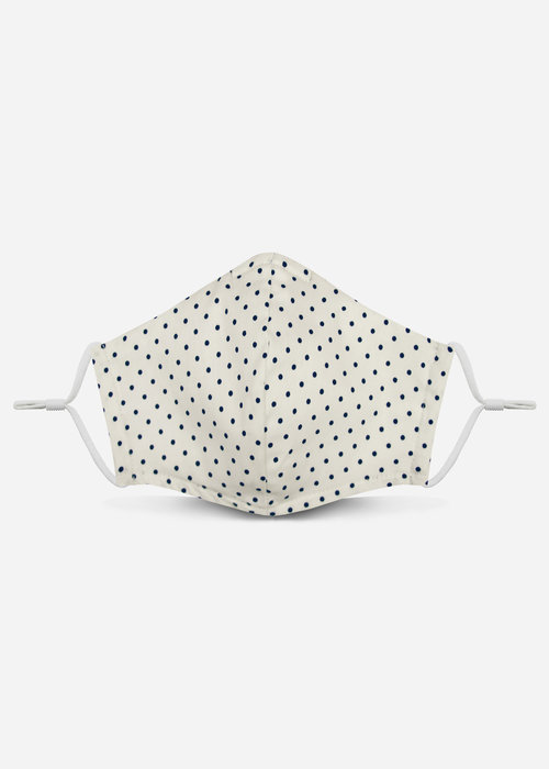 Pocket Square Clothing 2.0 Unity Mask w/ Filter Pocket (Off White Polka Dot)