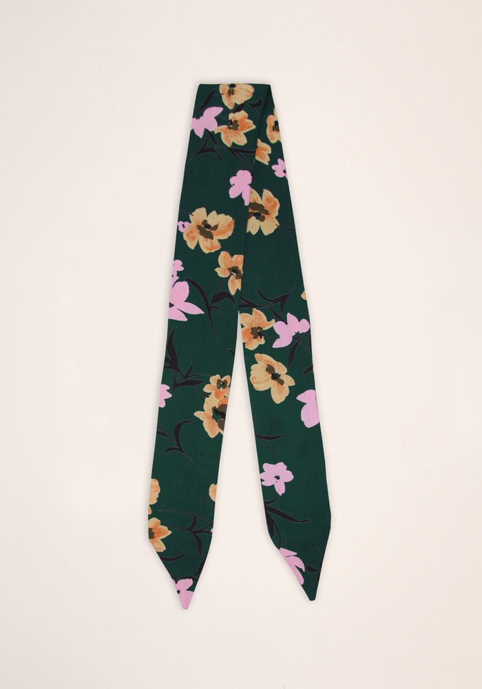 By PSC - Green Floral Scarf