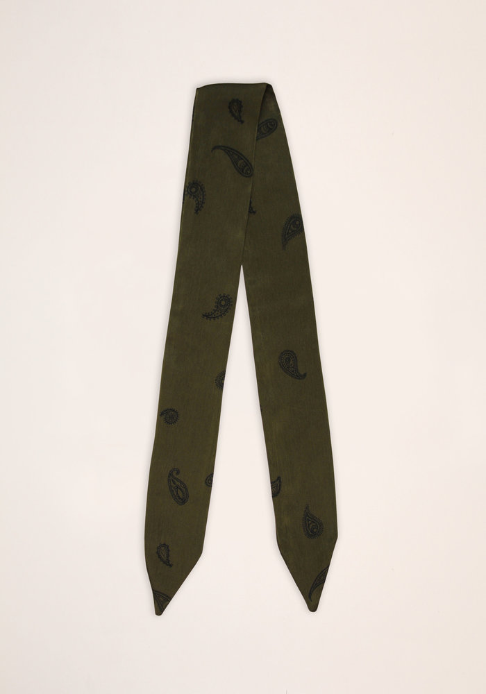 By PSC - Olive Paisley Scarf