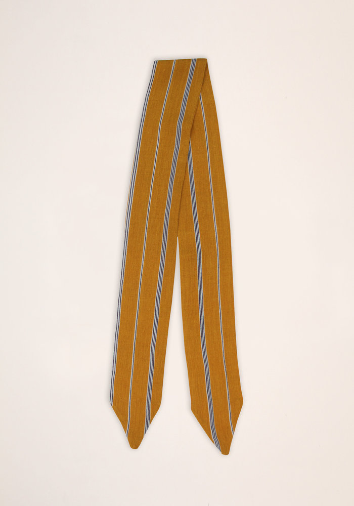 By PSC - Orange Stripe Scarf