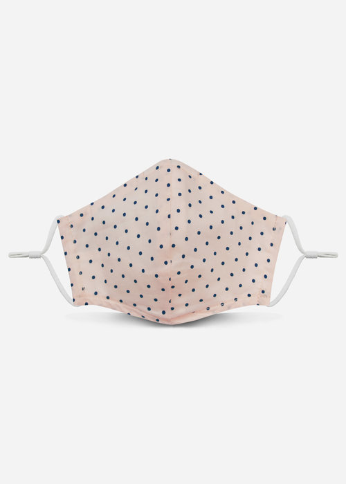 Pocket Square Clothing 2.0 Unity Mask w/ Filter Pocket (Light Pink Polka Dot)