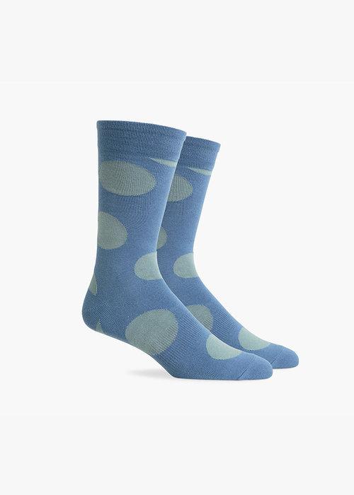 Richer Poorer Rufus Crew Sock - Blue & Sage