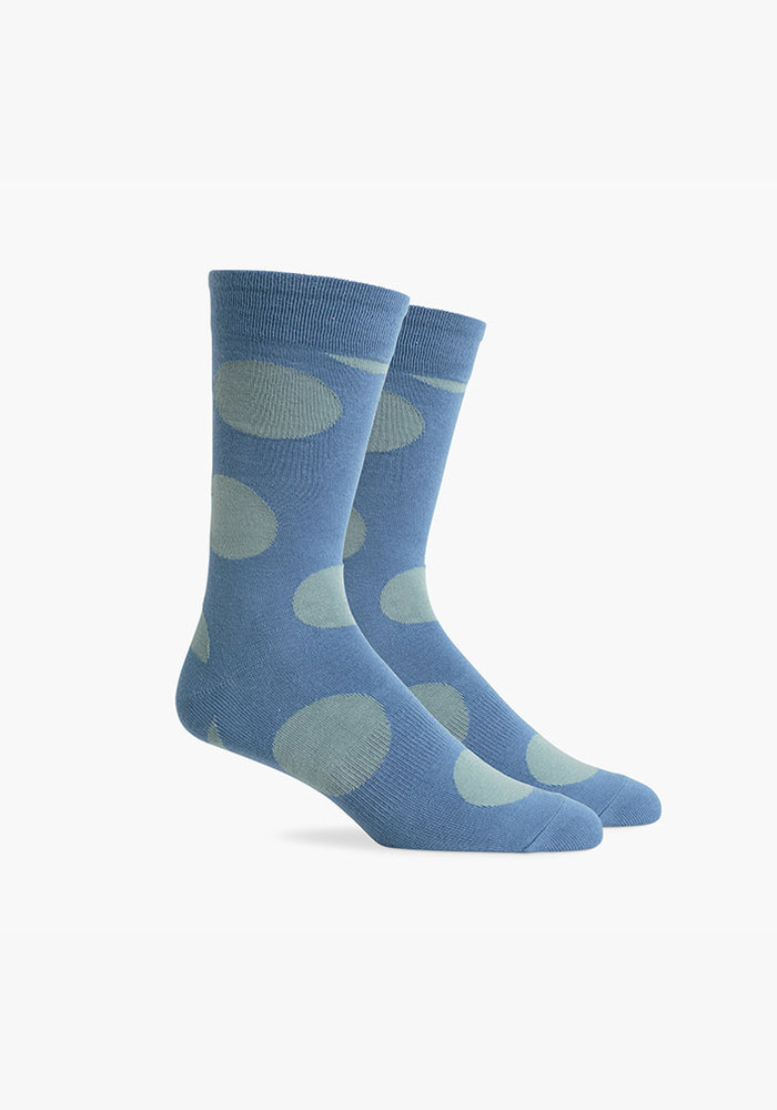 Rufus Crew Sock - Blue & Sage
