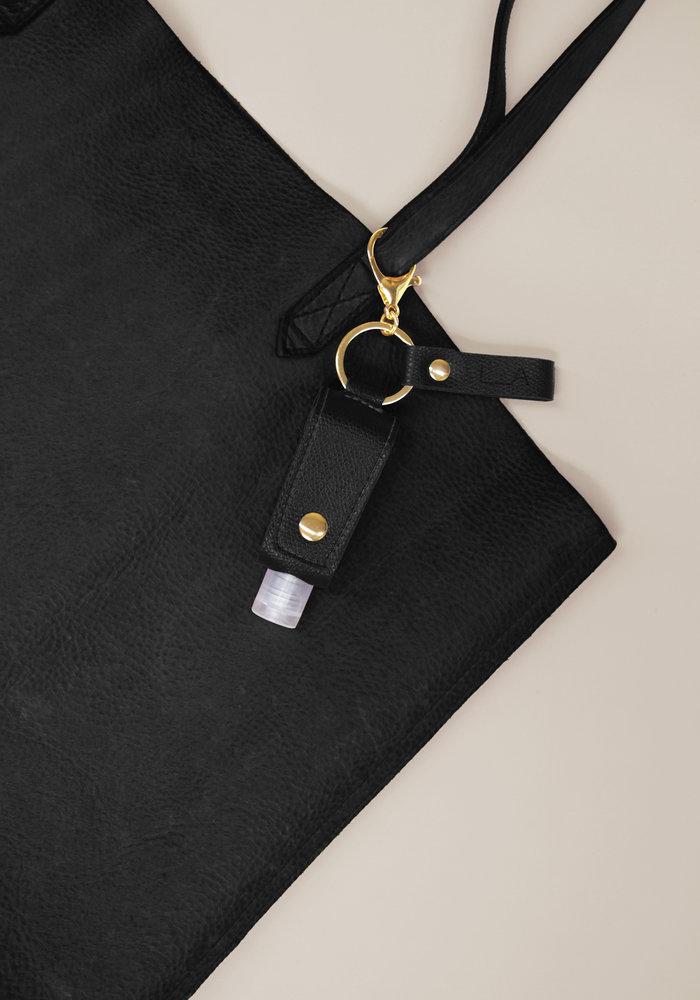 Black - Sanitizer Key Chain