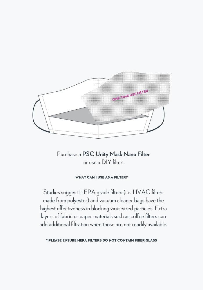 2.0 Unity Mask w/ Filter Pocket (Dark Navy Windowpane)