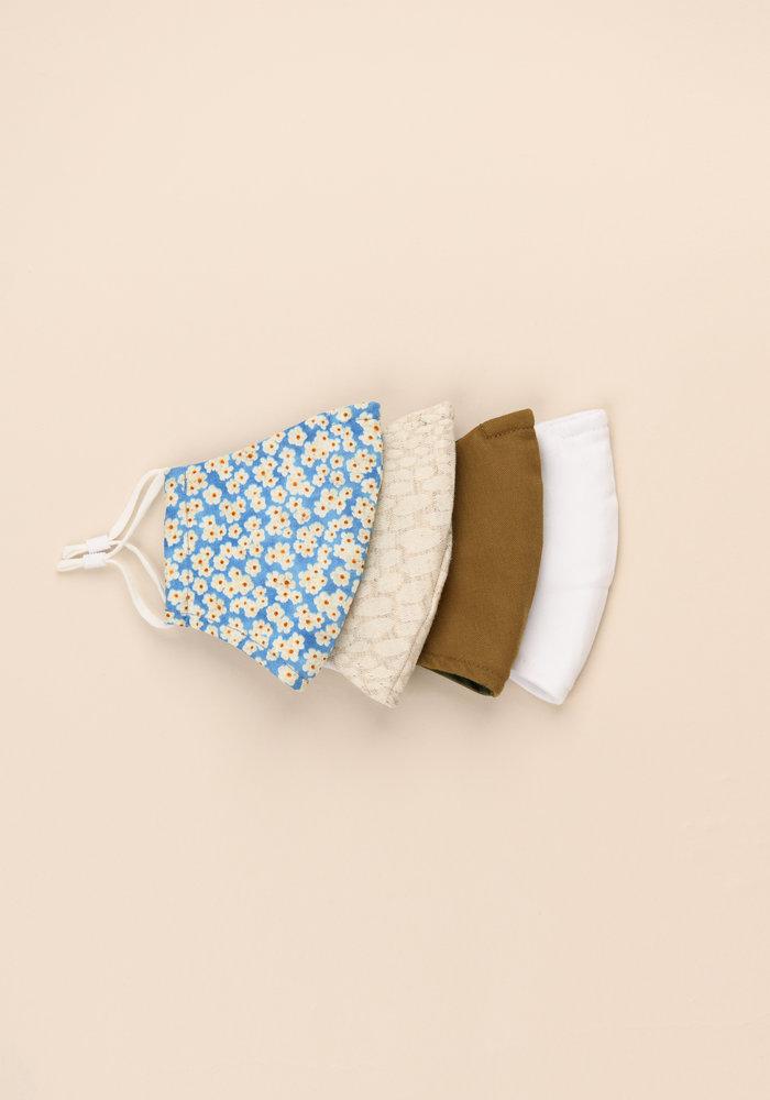 Light Blue Floral - Unity Mask Set