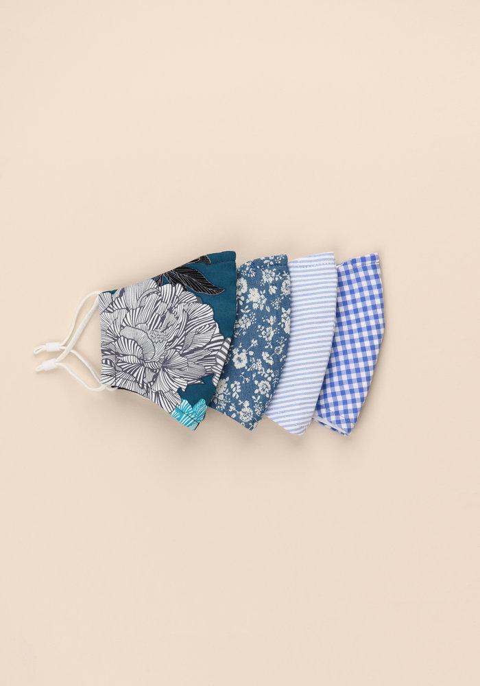 Teal Floral - Unity Mask Set