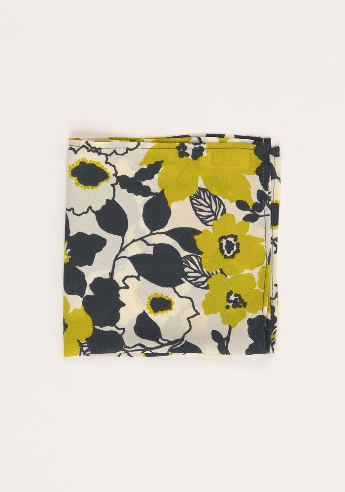 The Natasha Yellow Floral Pocket Square
