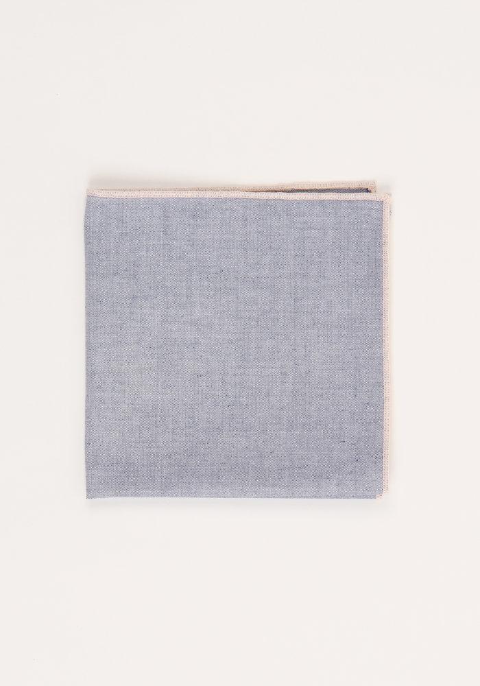The Merrow (Pink Chambray) Pocket Square