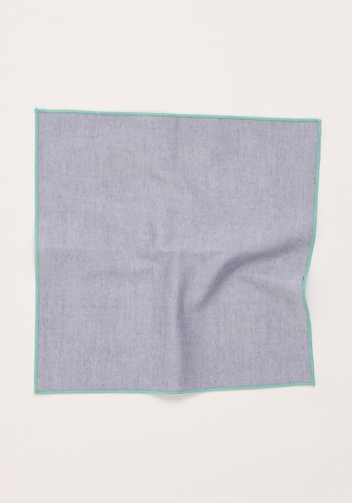 The Merrow (Mint Chambray) Pocket Square