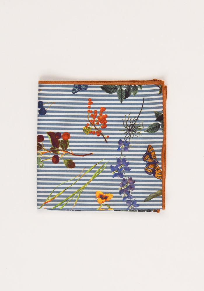 The Safa Striped Floral Pocket Square