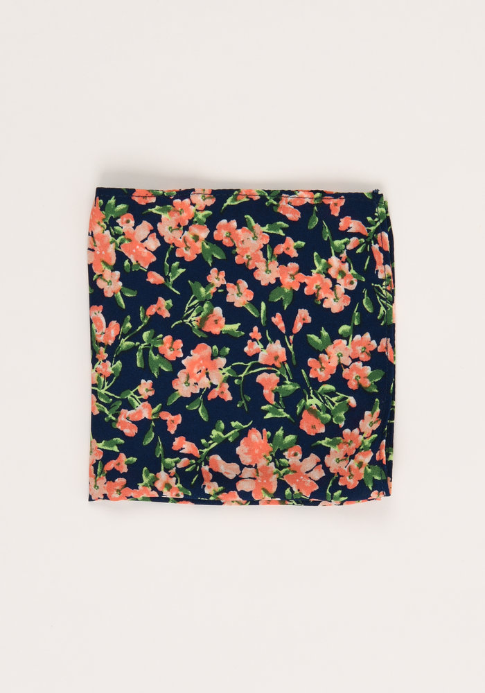 The Weiss Floral Pocket Square