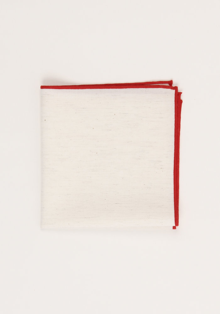 The Merrow (Red) Pocket Square