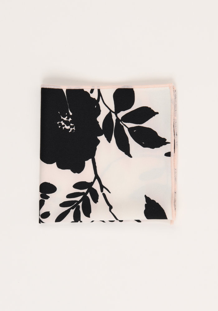 The Patrice Blush Floral Pocket Square