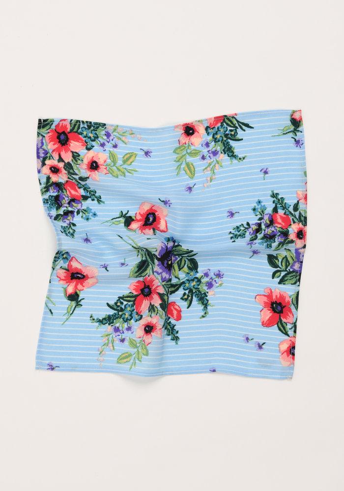 The Neve Light Blue Floral Pocket Square