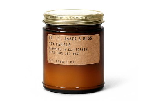 P.F. Candle Co. No. 11 Amber & Moss 7.2 oz Soy Candle