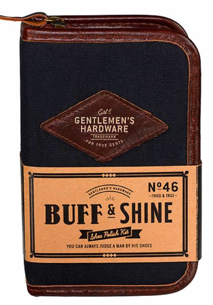 Gentlemen's Hardware - Navy Shoe Shine Kit