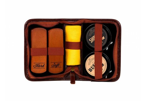 Gentlemen's Hardware Navy Shoe Shine Kit